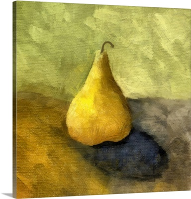 Pear Still Life with Grey and Olive
