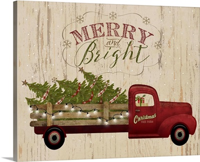 Truck Flatbed Merry and Bright