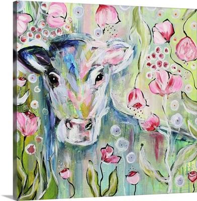 Watercolor Baby Cow
