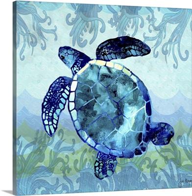 Waves Sea Turtle
