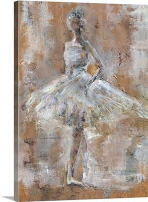 White Textured Ballet Dancer