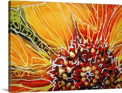 Batik Sunflower Heart