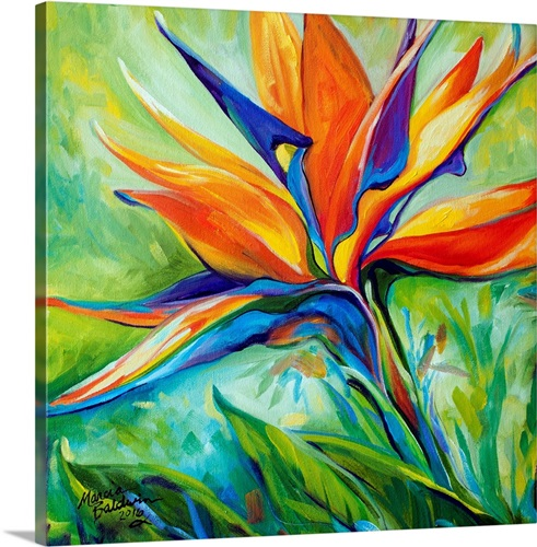 Blessed Day Bird Of Paradise Canvas