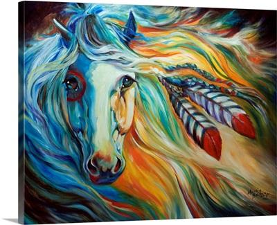 Breaking Dawn Indian War Horse