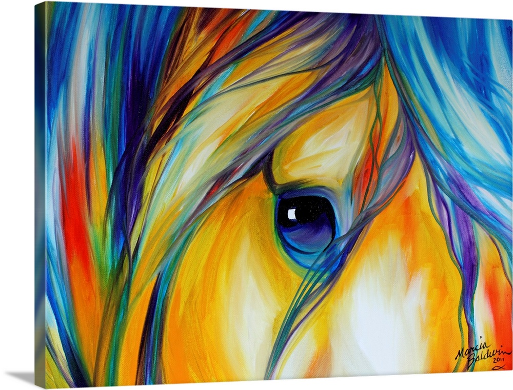 Abstract Horse Canvas Wall Art