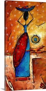 African Queen Wall Art Canvas Prints Framed Peels