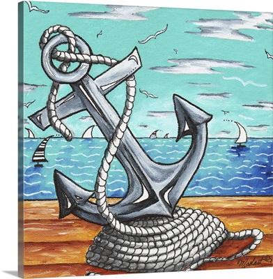 Anchors Away - Contemporary Nautical Anchor Art