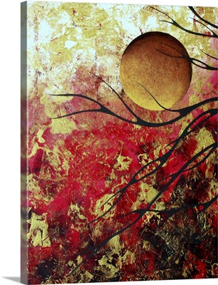 Bring Me Home 1 - Abstract Gold Art  Landscape