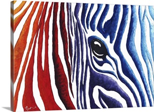 Colorful Zebra Contemporary Pop Art Zebra Painting Wall