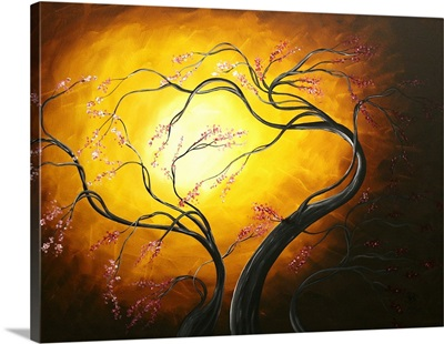 Fire Blossoms - Abstract Art Tree