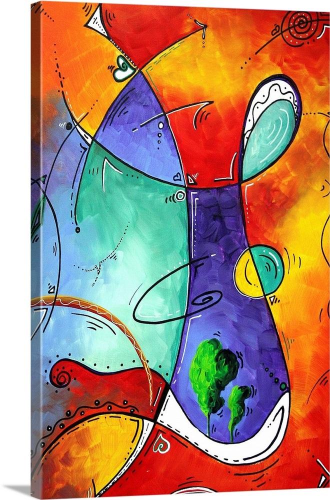 Free At Last - Bold Colorful Abstract Art Wall Art, Canvas ...