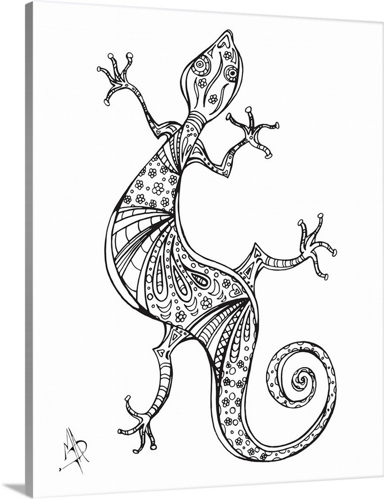 Gecko Wall Art, Canvas Prints, Framed Prints, Wall Peels