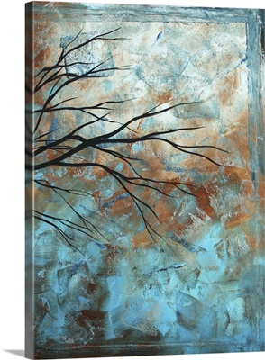 Intertwined 3 - Turquoise Contemporary Landscape