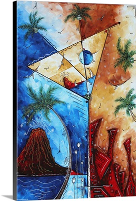 Island Martini - Contemporary Coastal Painting