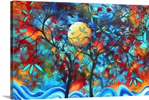 Lovers Moon  - Bold Vibrant Landscape Painting