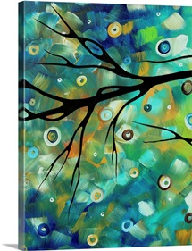 Morning Blues 2 - Abstract Art Landscape Painting