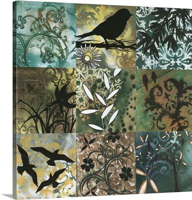 Natures Whimsy Full Square - Decorative Bird Foliage