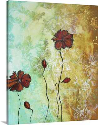 Poppy Love - Abstract Poppy Flower Painting