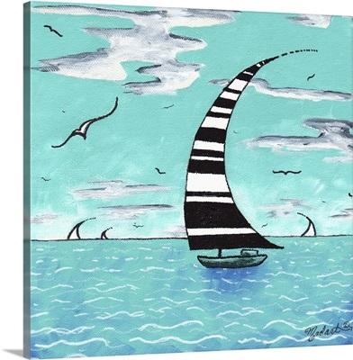Refreshing - PoP Art Sailboat