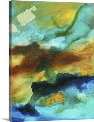 River Of Rust II -  Bold Modern Abstract Painting
