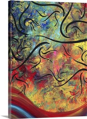 The Brilliance Of Color I - Contemporary Abstract Landscape Painting