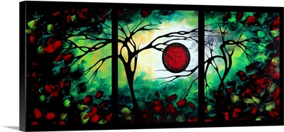 The Inspiration Black - Colorful Abstract Landscape Painting
