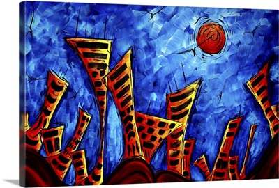 The Lost City II - Abstract Cityscape Painting