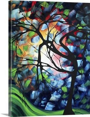 Tree Maze - Bold Colorful Modern Tree Painting