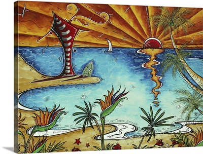 Tropical Serenity - Coastal Beach Painting