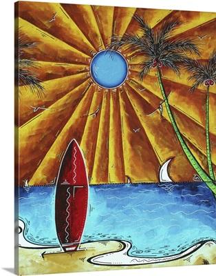 Waiting For The Surf - Coastal Art