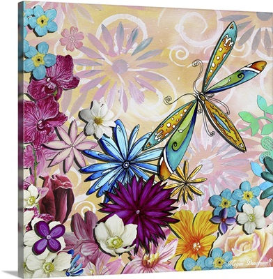 Whimsical Floral Collage II