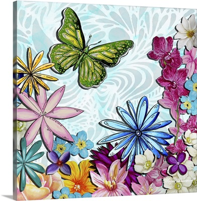 Whimsical Floral Collage III