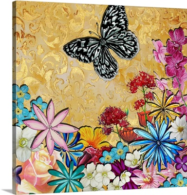 Whimsical Floral Collage IV