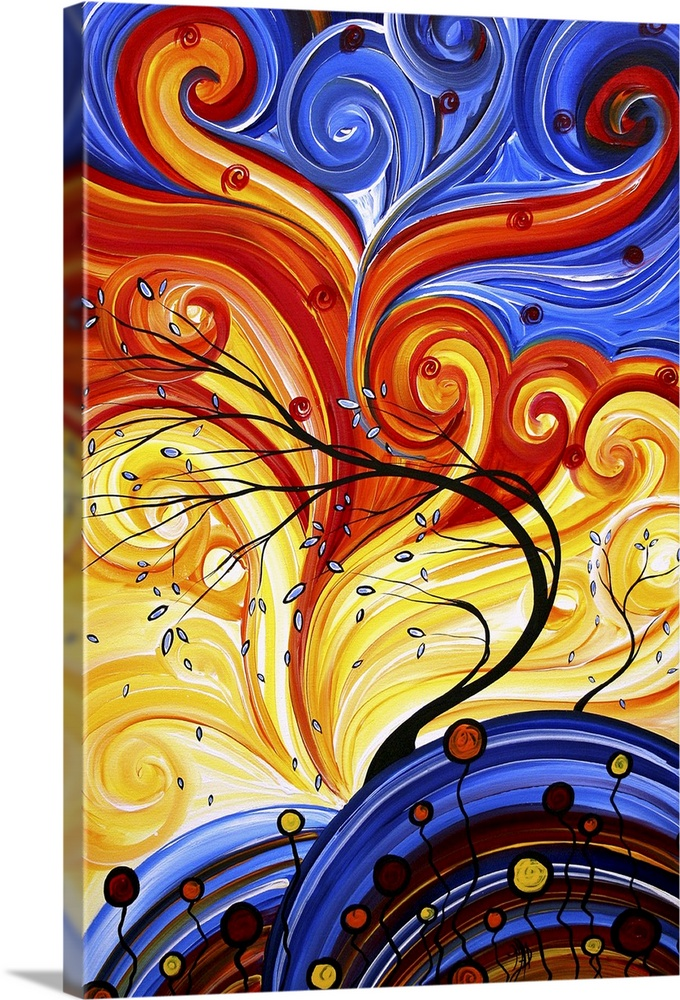 Whirlwind Whimsical Landscape Art Wall Art Canvas Prints Framed Prints Wall Peels Great Big Canvas