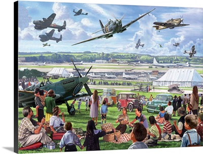 An airshow in 1950 featuring 1940's planes