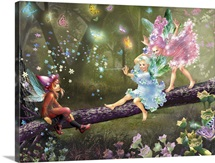 Elf and two Fairies