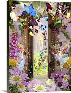 Fairy door wall art canvas prints framed prints wall for Fairy door wall art