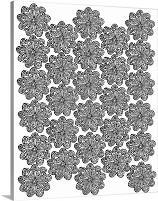 Flower Pattern - Black and White