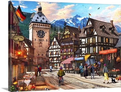 German Market Town