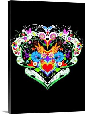 Heart on Black
