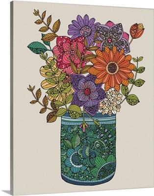 Jar With Flowers