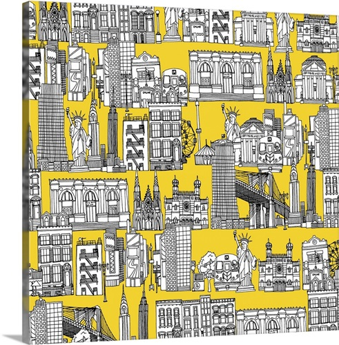 New York yellow Wall Art, Canvas Prints, Framed Prints, Wall Peels ...