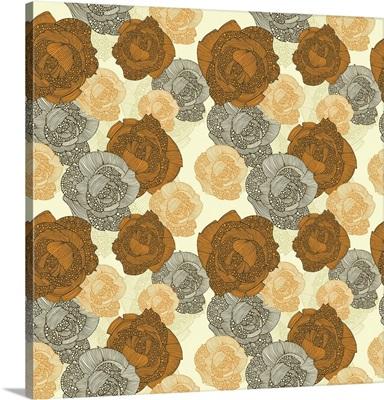 Orange Roses Pattern