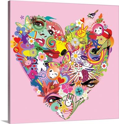 Rainbow Heart I