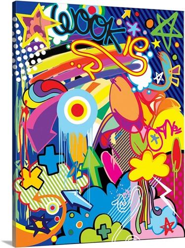 Stars and Rainbow Pop Art Wall Art, Canvas Prints, Framed Prints ...