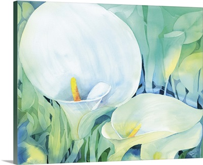 Stylised lilies