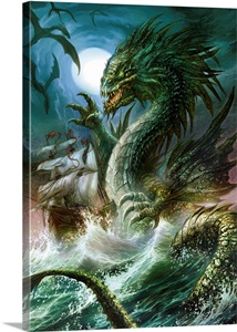 The Sea Serpent Wall Art Canvas Prints Framed Prints