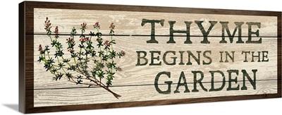 Thyme Begins in the Garden