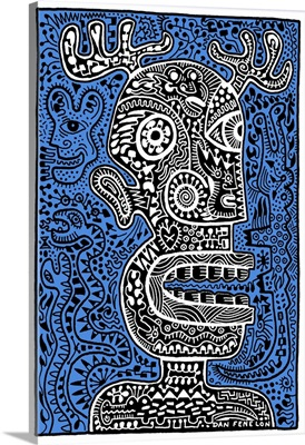 Tiki Head II Blue