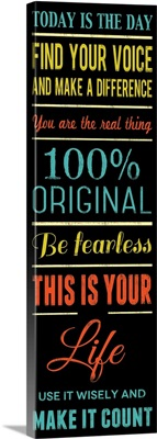 100 Percent Original, black with color